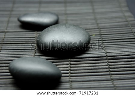 Relaxation Stones at a Spa - stock photo