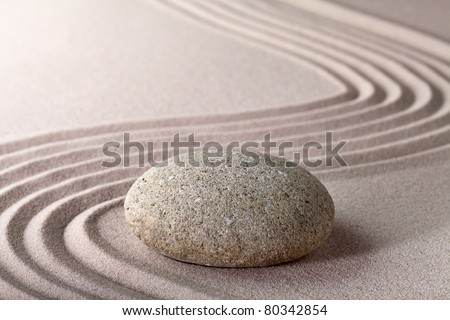 relaxation zen garden japanese garden zen stone with raked sand and round stone tranquility and balance ripples sand pattern meditation