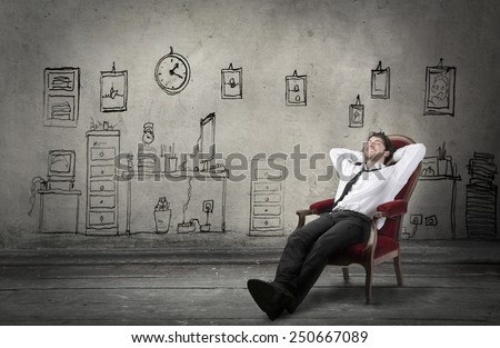 Relaxed manager #250667089