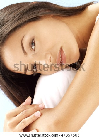 Relaxed young latin woman.