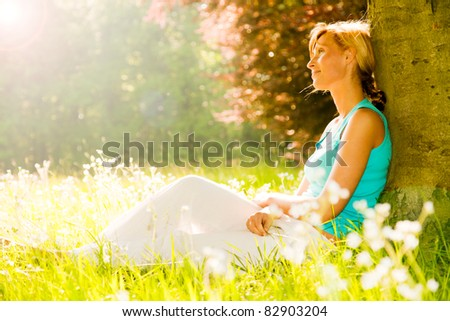 relaxing - stock photo