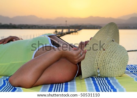Relaxing at sunset - Egypt