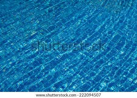 Relaxing blue water ripple pattern background
