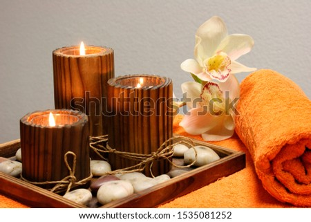 Relaxing composition with an elegant design for spa or spa
