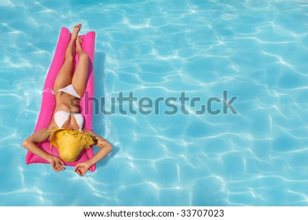 Relaxing in a pool, similar available in my portfolio