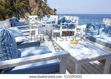 Relaxing lounge by the sea