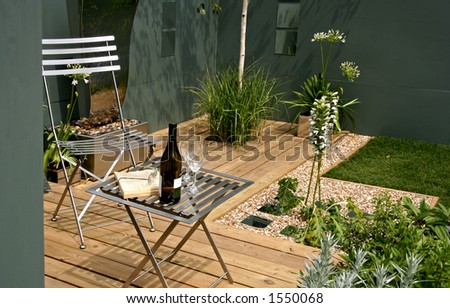 Relaxing modern garden space