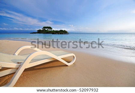 Relaxing on the beach #52097932