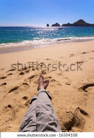 Relaxing on the beaches of Los Cabos, Mexico