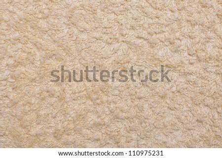 Relaxing towel beige background