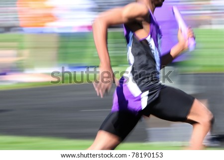 Relay race (motion blur)