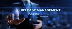 Release management software development business and technology concept.