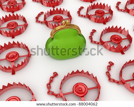 Reliable investments concept.Isolated on white background.3d rendered.