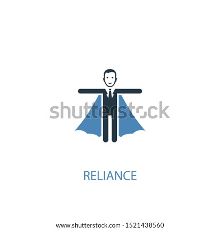 reliance concept 2 colored icon. Simple blue element illustration. reliance concept symbol design. Can be used for web and mobile UI/UX