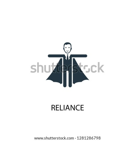 reliance icon. Simple element illustration. reliance concept symbol design. Can be used for web and mobile.