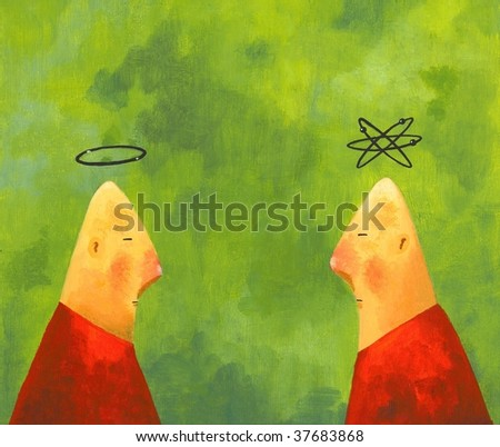 Religion and Science - stock photo