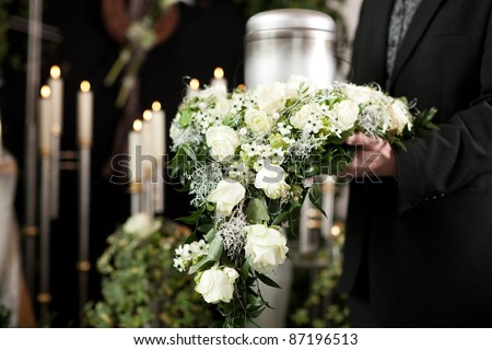 Religion death and dolor funeral and cemetery urn funeral