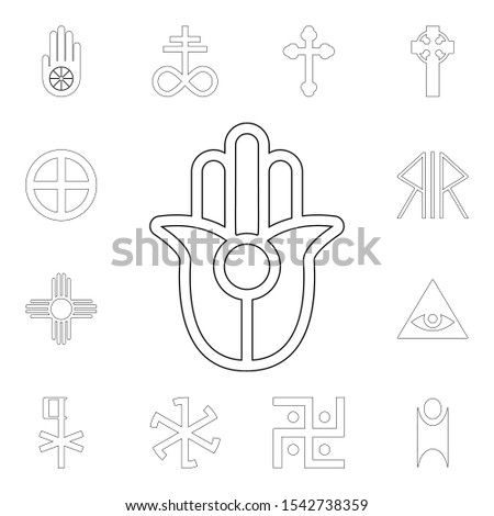religion symbol, semitic, neopaganism outline icon. element of religion symbol illustration. signs and symbols icon can be used for web, logo, mobile app, ui, ux