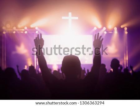 Religious concept: worship and praise #1306363294
