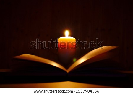 Religious diary for prayers. Magical paper romance in the dark. Prayer to God. #1557904556