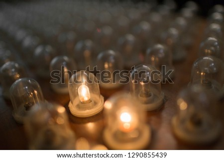 Religious lights, Spain.