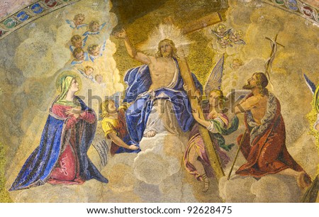 religious mosaic, St Mark Basilica, Venice, Italy