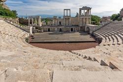 Remainings of Ancient Roman theatre in Plovdiv, Bulgaria