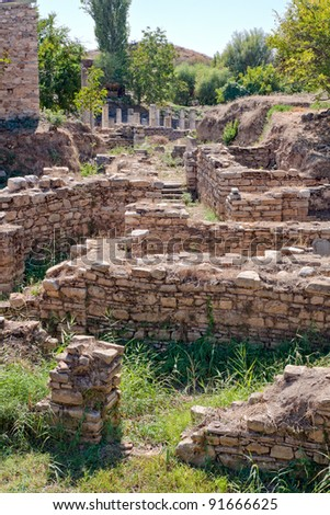 Remains in Aphrodisias (Turkey). In Roman time it was a small city in Caria. #91666625