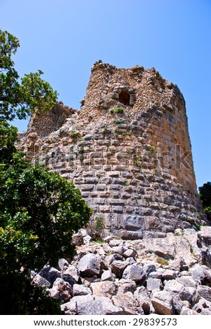 Remains of an ancient fortress tower.