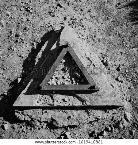 Remains of an ancient illuminati symbol