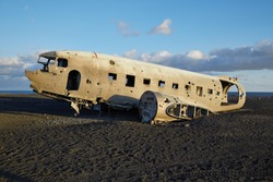 Remains of an old, crash-landed aircraft