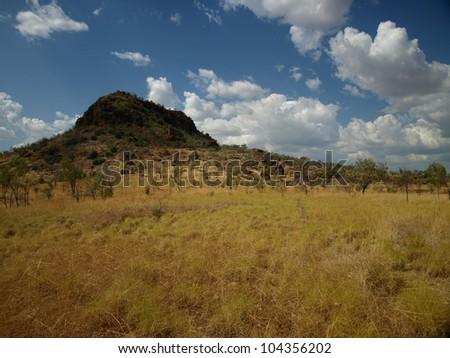 Remains of old mountain ranges in Western Australia