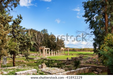 Remains of the Sanctuary of Artemis at Vravrona in Greece