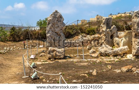 Remains of the Skorba temples in Mgarr.