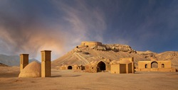Remains of Zoroastrian temples and settlements in Yazd, Iran