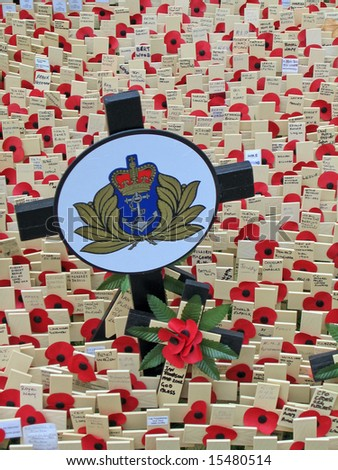 Remembrance day on 11th November in London, United Kingdom