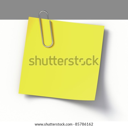 Reminder note with paper-clip