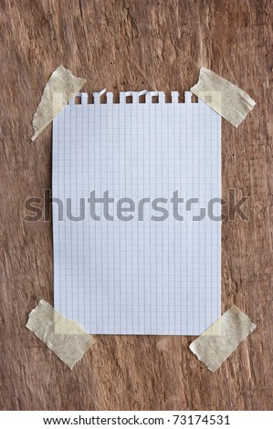 reminder notes on a background of the old wooden logs
