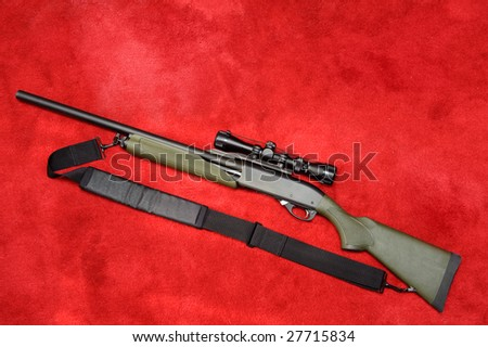 Remington 12 GA Pump Action Shotgun - stock photo