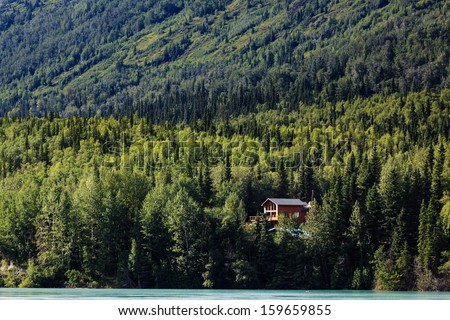 remote cabin in the woods...
