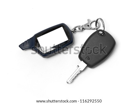 remote car key isolated on white background