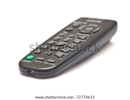 Remote coltrol device isolated over white background