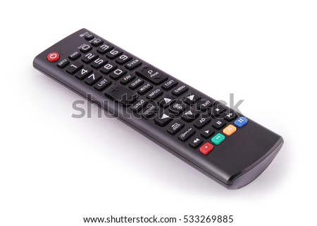 Remote control for TV. Photo with clipping path