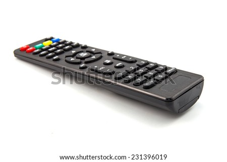 remote control isolated on white