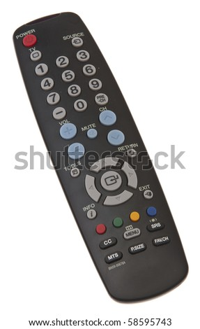 Remote Control Isolated on White with a Clipping Path.