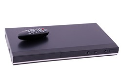 Remote control lays on Generic DVD Player
