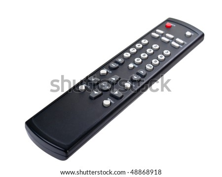 Remote control on pure white background