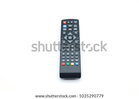 Remote control on white background. Television remote control.