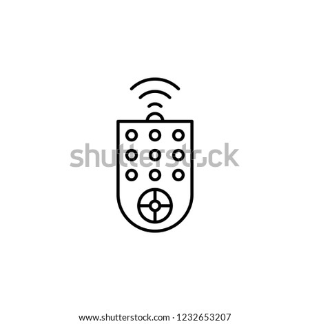 remote control, remote innovation technology icon. Element of technology icon for mobile concept and web apps. Thin line remote control, remote innovation technology icon