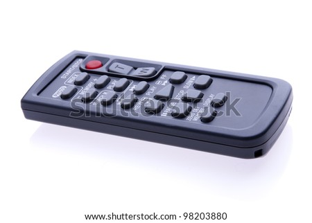 Remote control unit on white background